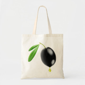 Black olive with drop of oil