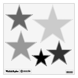 Black Ombre Stars Wall Decal