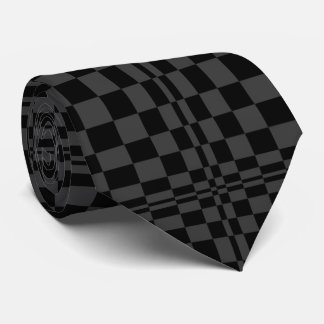 Black on Black Op Art Tie