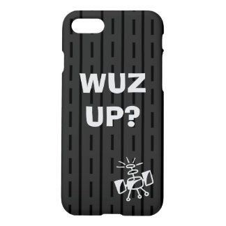 Black on Black Stripes and Dashes iPhone 7 Case