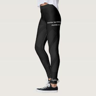 Black on Black Team/Club Leggings with Fake Shorts