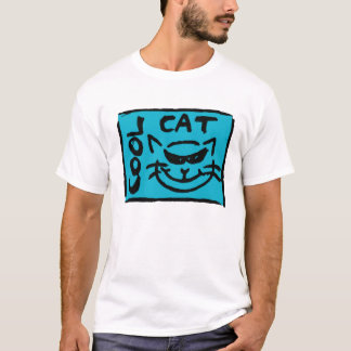 BLACK ON BLUE ( COOL CAT ) T-Shirt