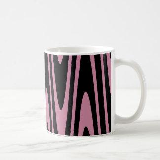 Black On Cashmere Rose Wavy Mug
