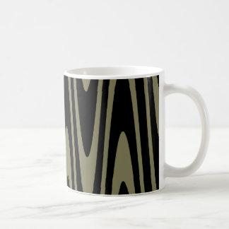 Black On Dried Herb Wavy Mug