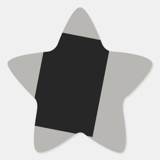 black on grey star sticker