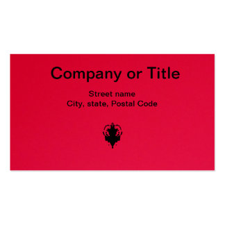 Black On Red Business Card Template