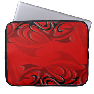 "Black on Red ""Smoke"" Laptop Sleeve"