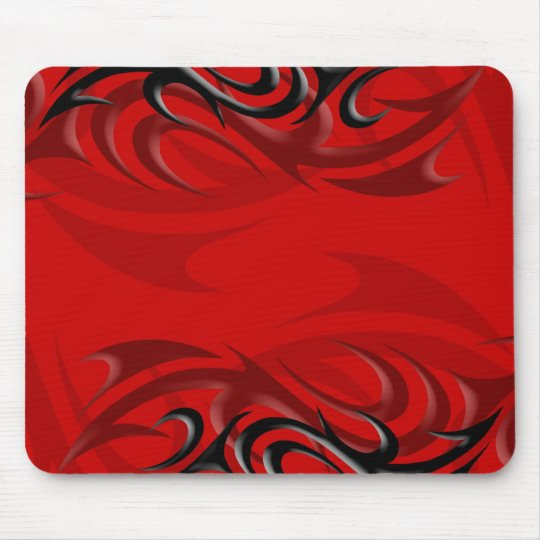 "Black on Red ""Smoke"" Mousepad"