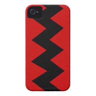 Black on Red Zig Zag iPhone 4/4S ID Case