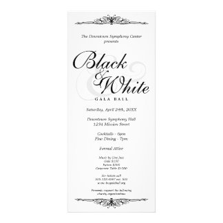 Black on white gala ball dance corporate long announcement