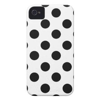 Black on White Polka Dot Design Case-Mate iPhone 4 Case