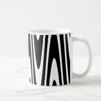 Black On White Wavy Mug