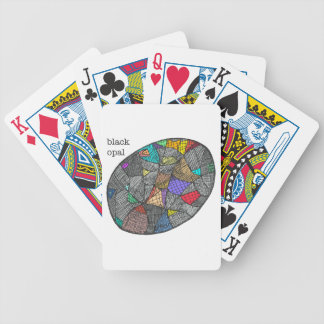 Black Opal Bicycle Playing Cards