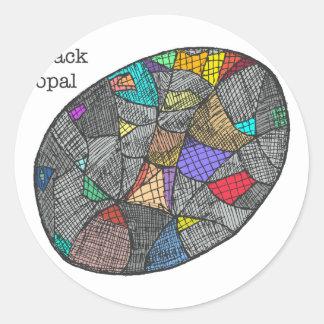 Black Opal Classic Round Sticker