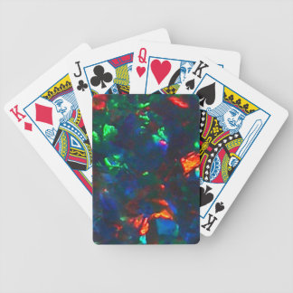 Black Opal Fire Red Green Designer Playing Cards