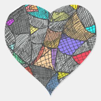 Black Opal Heart Sticker