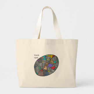Black Opal Large Tote Bag