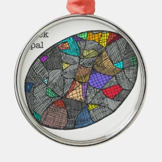 Black Opal Metal Ornament