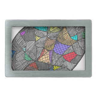 Black Opal Rectangular Belt Buckle