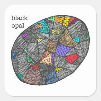 Black Opal Square Sticker