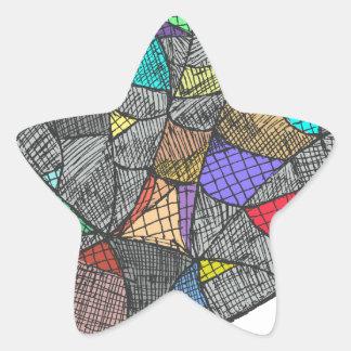 Black Opal Star Sticker