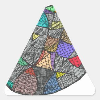Black Opal Triangle Sticker