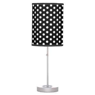 Black (or any color) and White Polka Dot Pattern Table Lamps