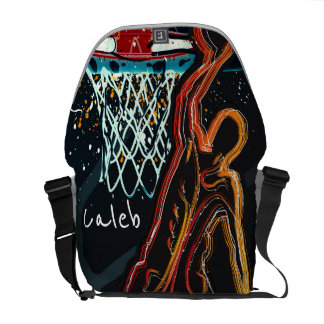 Black Orange Basketball Dunk Hoop Shot Custom Courier Bags