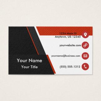 Black Orange Grid Business Card