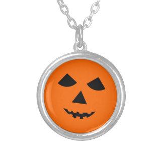 Black Orange Pumpkin Face Halloween Jack o Lantern Personalized Necklace