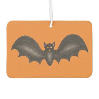 Black Orange Spooky Flying Bat Happy Halloween Air Freshener