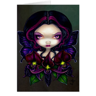 """""""Black Orchid Fairy"""" Greeting Card"""