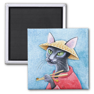 Black Oriental Shorthair Cat magnet