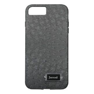 Black Ostrich Leather Look iPhone 7 Plus Case