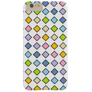 Black Outlined Pastel Rainbow Diamonds Barely There iPhone 6 Plus Case