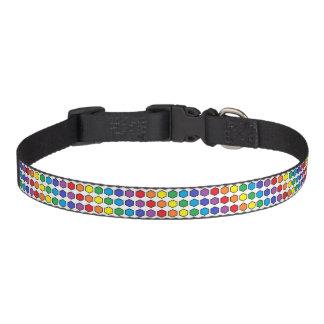 Black Outlined Rainbow Hexagons Pet Collar