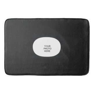 Black Oval Frame Add Photo Bath Mat