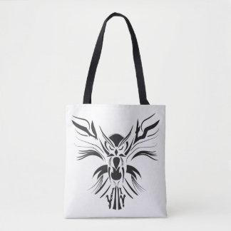 Black owl tribal Custom All-Over-Print Tote Bag