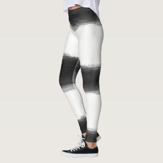 Black Paint Strokes Leggings
