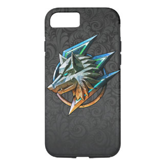 BLACK PAISLEY GAMING WOLF iPhone 7 CASE