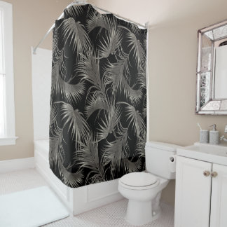 Black Palm Luxe Look Tropical Pattern