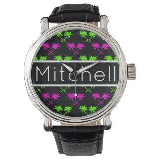 Black Palms Personalized Watch