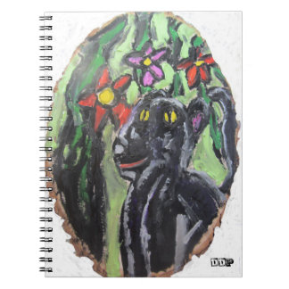 Black panther and flowers and Jungle Note Books