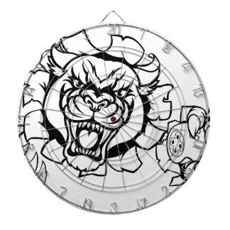Black Panther Angry Gamer Esports Mascot Dartboard
