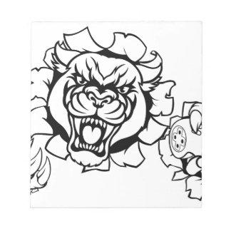 Black Panther Angry Gamer Esports Mascot Notepad