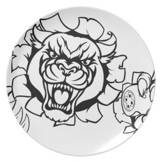 Black Panther Angry Gamer Esports Mascot Plate