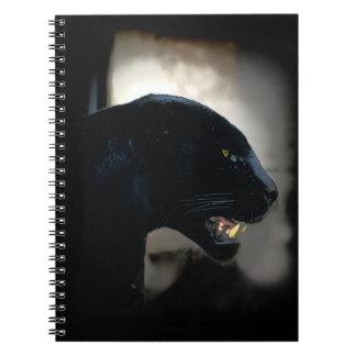 Black Panther Animal Lover Artwork Spiral Notebooks