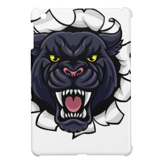 Black Panther Baseball Mascot Breaking Background Case For The iPad Mini