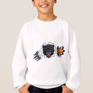 Black Panther Basketball Mascot Sweatshirt
