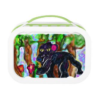 black panther beautiful jungle lunch box